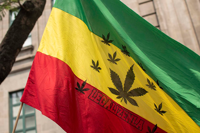Bandera cannabis rasta